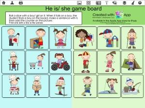 He/She game board