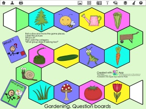 Gardening Question Game Board
