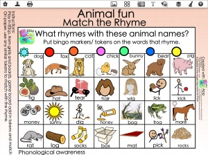 Animal Fun Match the Rhyme