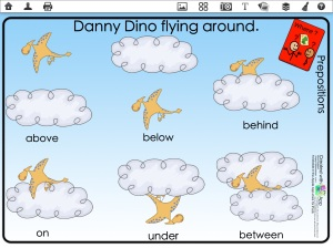 Dion flying in the sky preposition