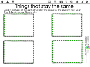 Things that stay the same template