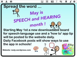 May is Speech and Hearing Month